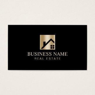 Real Estate Gold Home Logo Broker Agent