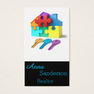 Real Estate, House and Keys, Realtor, estate agent Business Card