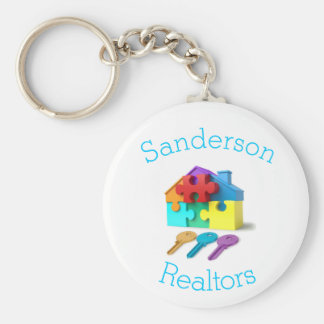 Real Estate, House and Keys, Realtor, estate agent Key Ring