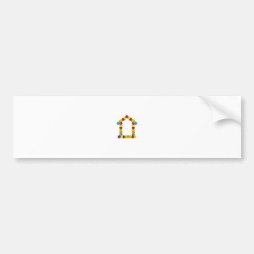 Real estate house bumper sticker