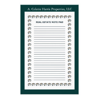 Real Estate Note Pad- Design 4 Stationery Paper