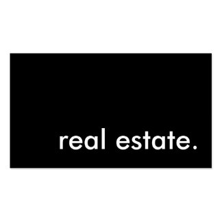 real estate. pack of standard business cards