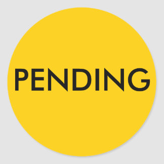 Real Estate Pending Sticker