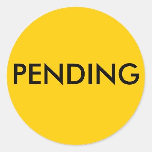 Real Estate Pending Sticker