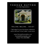 Real Estate Postcards Luxury Home Yellow