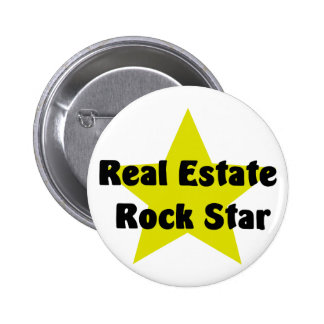 Real Estate Rock Star 6 Cm Round Badge