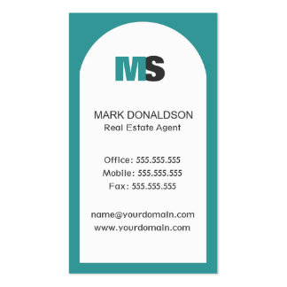 Real Estate Sales Agent Corporate Business Card