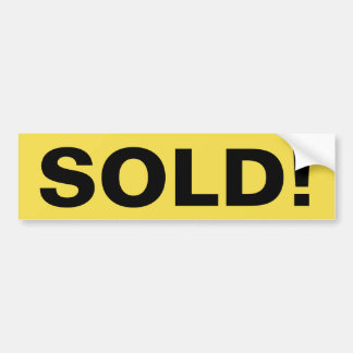 Real Estate Sign SOLD! sticker