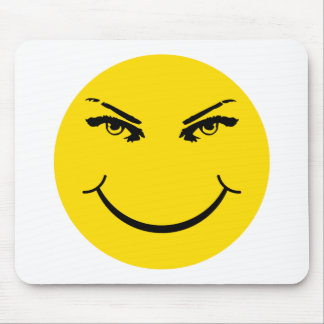 Real Eyes Smiley Face Mousepad