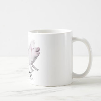 Real Flying Pig Popular Gift When Pigs Fly w Wings Coffee Mug