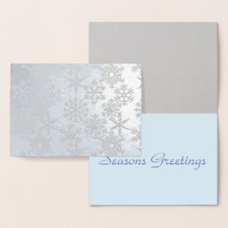 Real  Foil Snowflakes Christmas Card