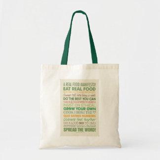 Real Food Tote Bag