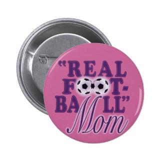 Real Football Mom (purple) Pins