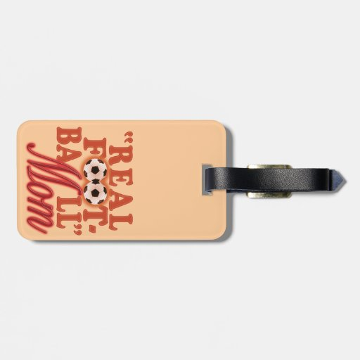 Real Football Mom (sunset) Tag For Bags