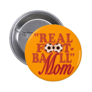 Real Football Mom (sunset) Pinback Buttons