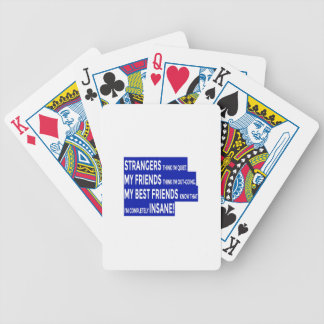 Real Friends True Friendship Bicycle Playing Cards