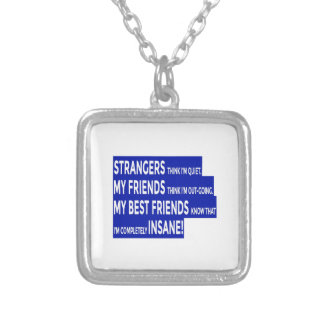 Real Friends True Friendship Silver Plated Necklace
