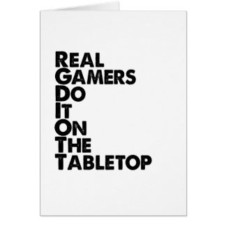Real Gamers black Card