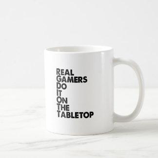 Real Gamers black Basic White Mug