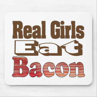 Real Girls Eat Bacon Mousepads