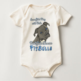 Real Girls Rescue Pit Bulls Baby Bodysuit