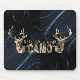 REAL GIRLS WEAR CAMO MOUSE PAD