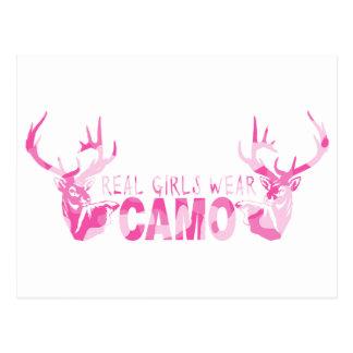 REAL GIRLS WEAR CAMO POSTCARDS