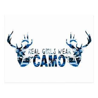 REAL GIRLS WEAR CAMO POST CARD