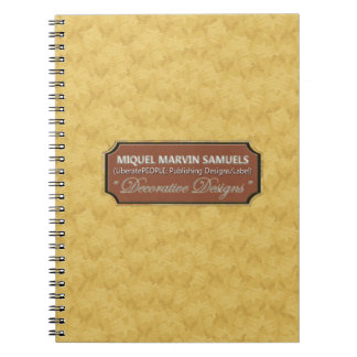 Real Gold Pattern Decorative Modern Notebook