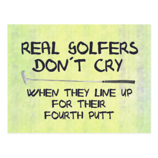 Real Golfers don´t cry Postcard