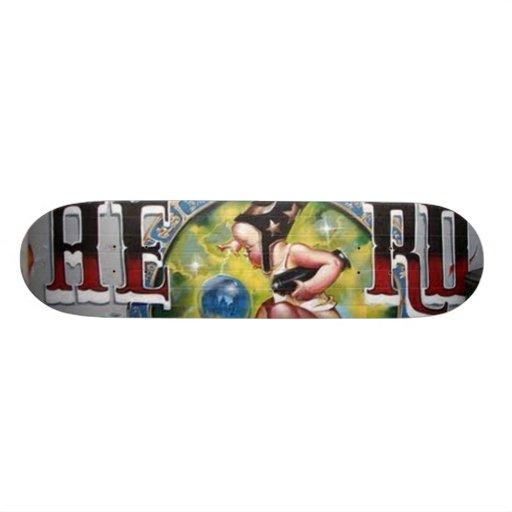 Real Graffit Baby  Girl Wizard Skate Board