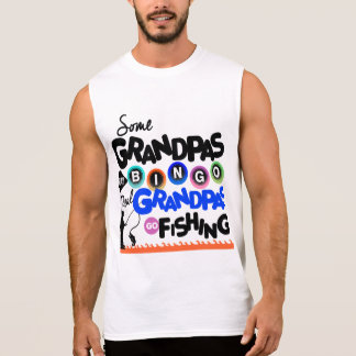 Real Grandpas Go fishing Sleeveless Shirt
