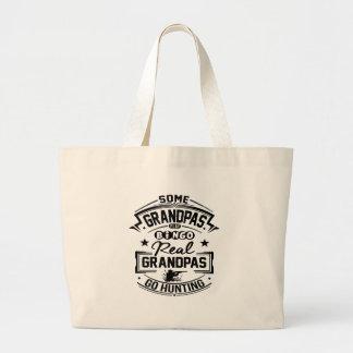 Real Grandpas Go Hunting Large Tote Bag