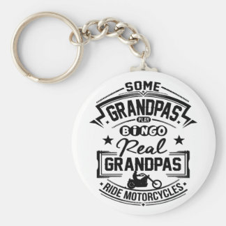 Real Grandpas Ride Motorcycles Key Ring