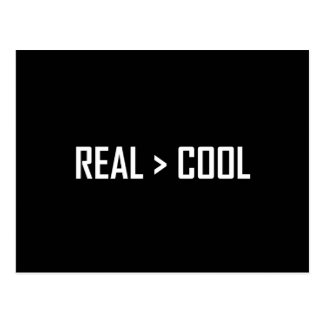 Real Greater Than Cool Postcard