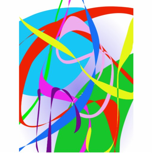 Real Happiness Abstract Design Photo Cut Out
