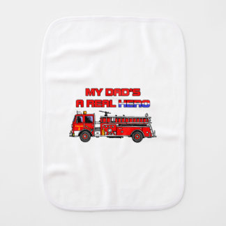 Real Hero Firefighter Burp Cloth