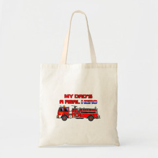 Real Hero Firefighter Budget Tote Bag