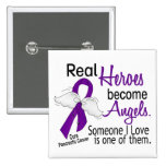 Real Heroes Become Angels Pancreatic Cancer Badge