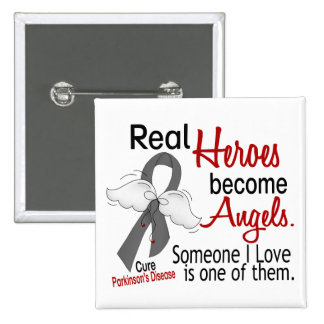 Real Heroes Become Angels Parkinson's Disease 15 Cm Square Badge