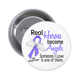Real Heroes Become Angels Stomach Cancer Buttons