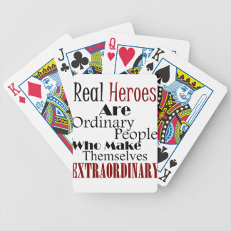 Real Heroes Extraordinary People Bicycle Playing Cards