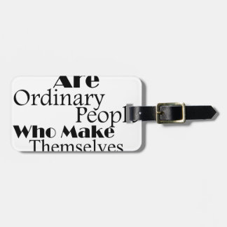 Real Heroes Extraordinary People Luggage Tag