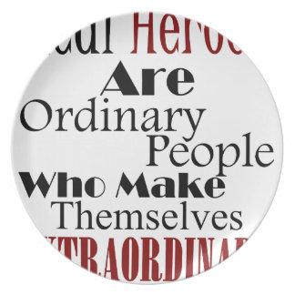 Real Heroes Extraordinary People Plate