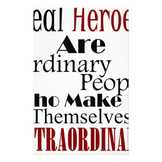 Real Heroes Extraordinary People Stationery