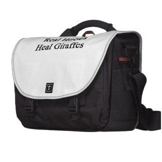Real Heroes Heal Giraffes Laptop Messenger Bag