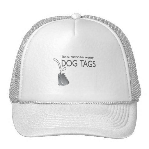 Real heroes wear dog tags mesh hat