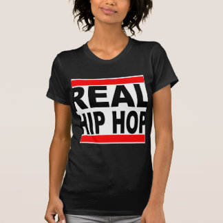 Real Hip Hop Black Tee White Background Womens