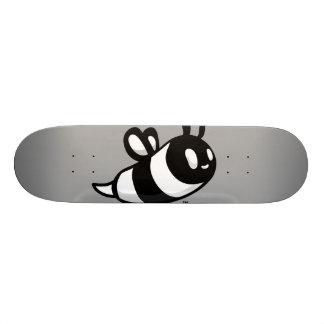 Real Ink™ Cartoon Bee Grey Skateboard Deck