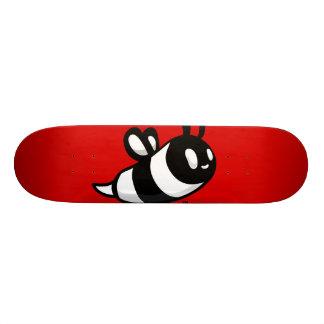 Real Ink™ Cartoon Bee Red Skateboard Deck